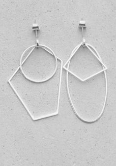 Geometric Metal Earrings &otherstories 25€