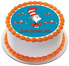 Dr Seuss Edible Birthday Cake Topper Or Cupcake Decor