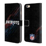 Official NFL Blur New England Patriots Logo Leather Book Wallet Case Cover For Apple iPhone 6 Plus / 6s Plus