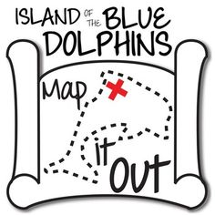 FREE Island of the Blue Dolphins Map It Out Activity.  Using locations mentioned in the novel and a little bit of outside geography research, draw a map of where the story happens and mark where the characters travel, talk about traveling, and more.  4-8