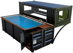 Shipping Container Swimming Pool, Container Pool, Container House Design, Shipping Container Homes, New Home Designs, Storage Containers, Tiny House, Swimming Pools, Deco