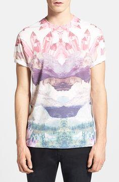 Topman Landscape Print Tshirt in Multicolor for Men (Multi Bright) | Lyst
