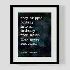 8x10 Print F. Scott Fitzgerald Love Literary Quote Wall Art, Decor - 2 Different Backgrounds
