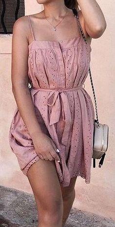#summer #outfits / pink dress