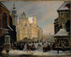 Enlarged Picture: Oil Painting - Town Hall, The Hague - Carel Jacobus Behr - Birmingham Museums & Art Gallery Information Centre
