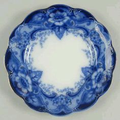 Flow blue - this is a lovely pattern wish I knew the pattern name...