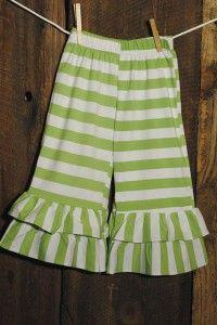 Capri - Green Stripe Knit