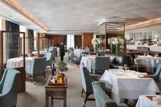 Set in Hong Kong's historic Mandarin Oriental Hotel, which recently celebrated its anniversary, the Mandarin Grill + Bar had previously resembled a private club Mandarin Oriental, Furniture Catalog, Online Furniture, Hong Kong, Grill Bar, Private Dining Room, Private Club, Wholesale Furniture, Restaurants