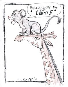 Lion King Week, Day Simba by tombancroft on DeviantArt Lion King Jr, Lion King Fan Art, Cartoon Sketches, Disney Sketches, Disney Nerd, Disney Love, Disney Stuff, Giraffe Drawing, Giraffe Tattoos