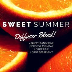 Sweet summer orange diffuser blend