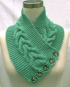 Lots of variation in wearability in this - Neck Warmer Scarf Mint Green Hand… Lace Knitting, Crochet Shawl, Knitting Stitches, Knitting Patterns, Knit Crochet, Diy Scarf, Hand Knit Scarf, Knit Headband Pattern, Knitted Headband