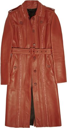 BURBERRY PRORSUM Double-faced Leather Trench Coat