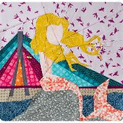 The Warsaw Mermaid paper piecing pattern - via @Craftsy - FREE Pattern