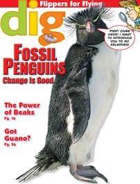 Cobblestone Magazine Back Issue $7: Fossil Penguins