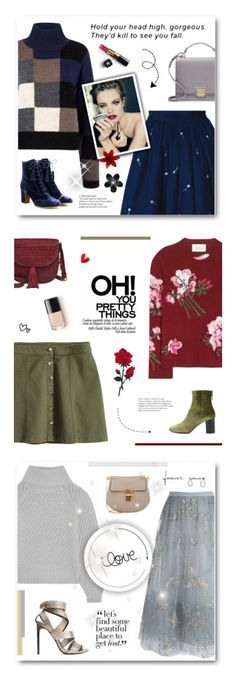"""""""Happy Birthday Sets"""" by paradiselemonade ❤ liked on Polyvore featuring Current/Elliott, Anouki, Tabitha Simmons, Smythson, Chanel, SHAN, Gucci, H&M, Sandro and FOSSIL"""