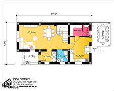 Case cu latimea de 7 metri - 3 proiecte generoase - Case practice Utila, House Plans, Modern Design, Floor Plans, Layout, How To Plan, Planes, Houses, Bonito