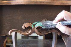 14 Create-an-Aged-Copper-Finish-Oak-Table-Add-Patina