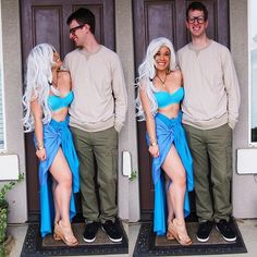 Disney Cosplay Pin for Later: 50 Adorable Disney Couples Costumes Kida and Milo - Ready for some seriously magical costume inspiration? Costumes Halloween Disney, Couples Halloween, Hallowen Costume, Halloween Kostüm, Halloween Cosplay, Zombie Costumes, Group Halloween, Homemade Halloween, Adult Costumes