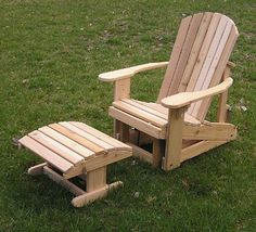 Our Adirondack Chair features a sculpted seat and a curved back for maximum comfort. It is made entirely of one-inch Western Red Cedar, using stainles… Garden Chairs, Patio Chairs, Outdoor Chairs, Garden Benches, Outdoor Decor, Adirondack Chair Cushions, Cheap Adirondack Chairs, Pallet Furniture, Furniture Design