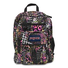 JANSPORT BIG STUDENT BACKPACK SCHOOL BAG - Pink Pansy Muted Safari 7cdc121bf3103