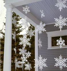 Decoração com flocos de neve                                                                                                                                                                                 Mais