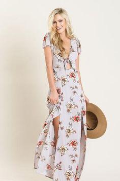 Kenley Lavender Floral Maxi Dress