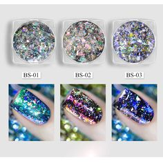Glitters Galaxy Holo Flakes Magic Effect Irregular Nail Art Powders