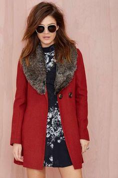 Florence Faux Fur Coat - Jackets + Coats 800 NG