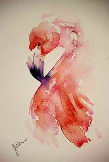 """Flamingo Blush"", Jean Haines"