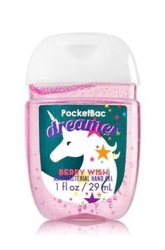 Dreamer - Berry Wish PocketBac Sanitizing Hand Gel - Soap/Sanitizer - Bath & Body Works Bath And Body Works Perfume, Bath N Body Works, Hand Sanitizer Holder, Smell Good, Body Lotion, School Supplies, Girly Things, Body Care, It Works