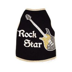 I See Spot's Dog Pet Cotton T-Shirt Tank, Rock Star Guitar, Medium, Black *** Insider's special review you can't miss. Read more  : Dog Shirts