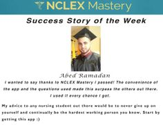 Abed Ramadan is our #NCLEX Mastery Success Story of the Week. Congratulations on passing your NCLEX, and becoming a #nurse. We're glad we could help play a part in you achieving your dreams. If you want to know how Cheryl passed or need help on your NCLEX studies visit: www.nclexmastery.com
