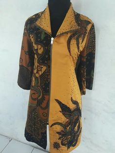 Batik Blazer, Blouse Batik, Batik Dress, Ruffle Dress, Batik Fashion, Hijab Fashion, Winter Dresses, Casual Dresses, Mode Batik