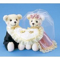 RP-2クマのリングピロー ピンク 手作りキット<シェリーマリエ・リングピローコーナー> Teddy Bear, Pillows, Toys, Wedding, Animals, Activity Toys, Valentines Day Weddings, Animales, Animaux