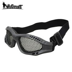 Camping & Hiking Hiking Eyewears Collection Here High Quality Hunting Tactical Paintball Goggles Eyewear Steel Wire Mesh Airsoft Net Glasses Shock Resistance Eye Game Protector Attractive And Durable