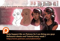 How to paint dark skined characters tutorial pack (term 7 reward ) | Sakimi Chan on Patreon