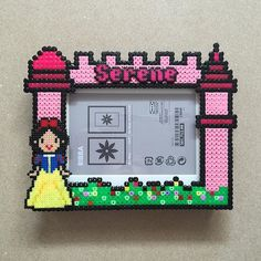 Snow White photo frame perler beads by ikasuyanto