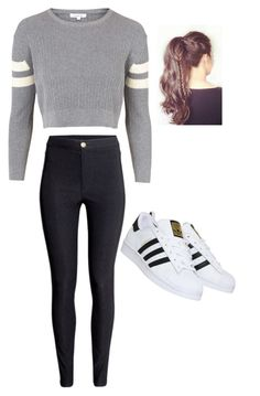 """Untitled #179"" by frannyfranfran1318 ❤ liked on Polyvore featuring Topshop, H&M and adidas"
