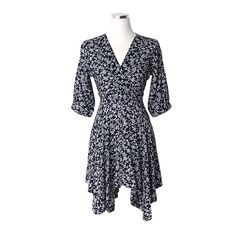 Today's Hot Pick :Floral Handkerchief Hem Dress http://fashionstylep.com/P0000EOF/pushpush7023/out Perfect for dates and social gatherings. this dress will surely draw the spotlight out. It comes with a plunging neckline, fitted bodice, three-quarter sleeves, asymmetrical handkerchief hems, and wallpaper designs. Combine with booties, and style with chesterfield coats.
