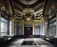 The Arab Hall at the Leighton House Museum, former residence of Victorian-era painter Frederic, Lord Leighton. The Arab Hall is tiled with the ceramics and woodwork Leighton collected on trips to the Middle East.