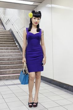 How about this CAP-SLEEVE PURPLE DRESS?   $289.00