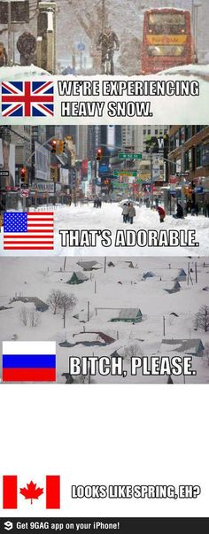 We Canadians laugh at your idea of heavy snow. Amber Haha haha