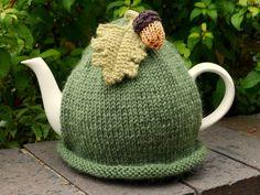 Nothing says Autumn like an acorn tea cosy.
