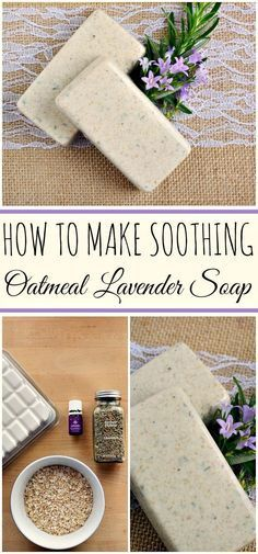 In case I ever get into soap making! DIY How to make Oatmeal Lavender Oatmeal Soap with Essential Oils: Oatmeal Soap, Oatmeal Bath, Little Presents, Essential Oils Soap, Lavender Soap, Lavander, Homemade Soap Recipes, Handmade Soaps, Diy Soaps