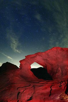 ✯ Arch and Stars - Valley of Fire, Nevada