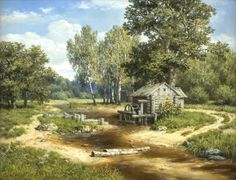 Landscapes artist Mikhail Satarov. - The Old Mill