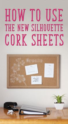 Are you excited about the new products showing up in the Silhouette Shop? I am! Among the first new and unique products I tried are the cork sheets, and I'm here to show you how to use them.  What You Should Know About the Cork Sheets: Adhesive backed and ready to stick anywhere Size is 5 in. x 7 in. (eight sheets per package) Quite thin, so they are more like cork stickers than thick cork board My successful cork settings: Blade 10, Speed 1, Thickness 33, Double Cut  Out of all the…