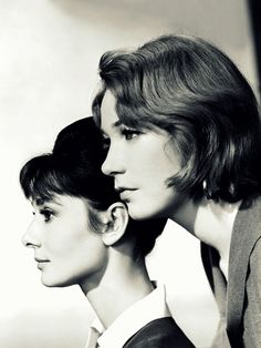"""The Children's Hour: Audrey Hepburn as 'Karen Wright' & Shirley MacLaine as 'Martha Dobey' (1961). """"Martha Dobey is a remarkable screen lesbian, not only because  she managed to get the Motion Picture Code changed, but also because at one point, just before her mandatory suicide, she acknowledges her sexuality."""" An excellent, but heart-wrenching movie."""