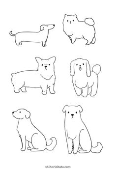 How to Draw a Dog: Easy Step by Step Tutorial Dog Drawing Simple, Drawing For Kids, Drawing Ideas, Dog Steps, Doodle Dog, Doodle Lettering, Fluffy Dogs, Simple Doodles, Animal Drawings