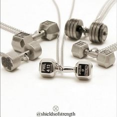 Shields of Strength dumbbell necklaces!